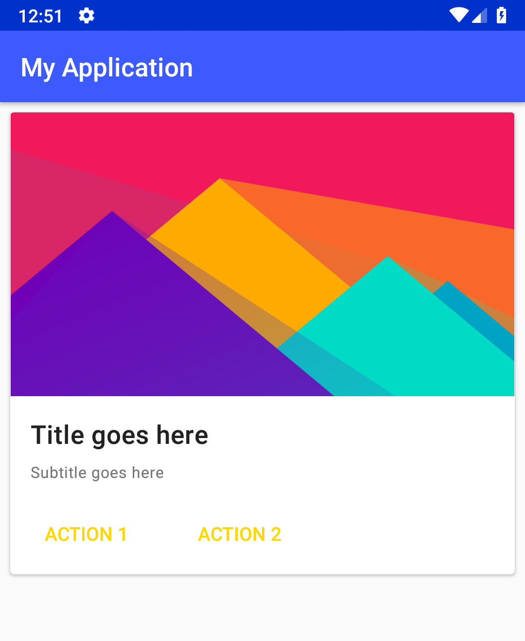Android - Creating a List of Cards using RecyclerView